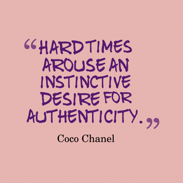 Coco Chanel quote about time.