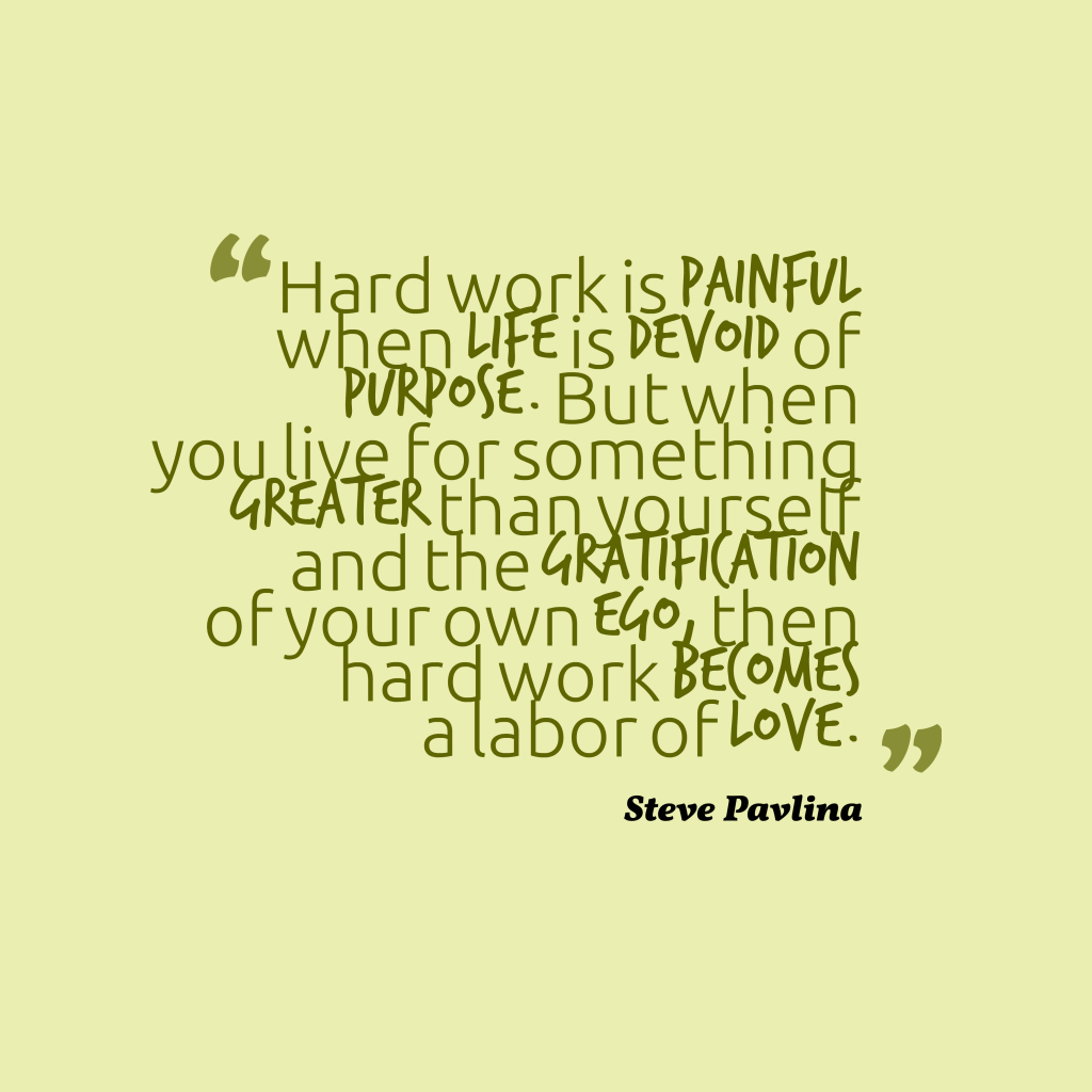 Steve Pavlina quote about work.