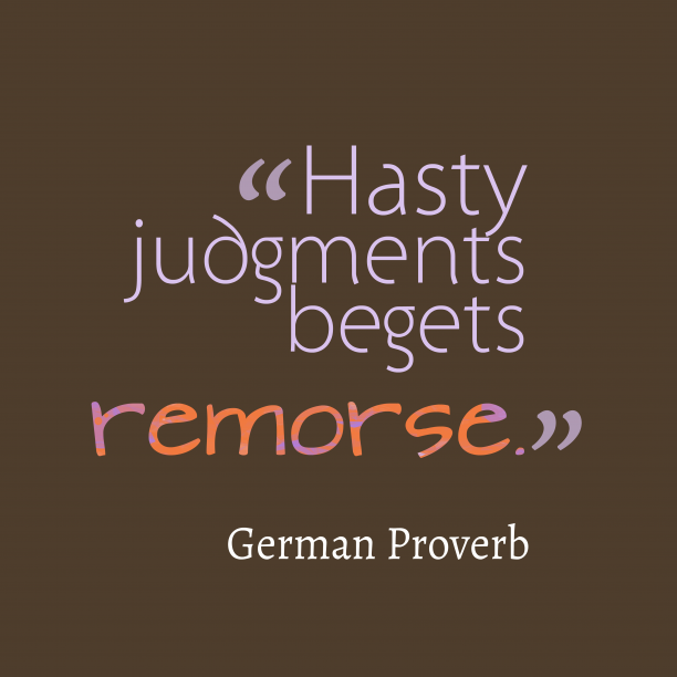 German wisdom about avaluation.