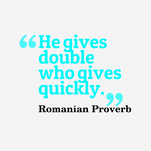 Romanian proverb about job.