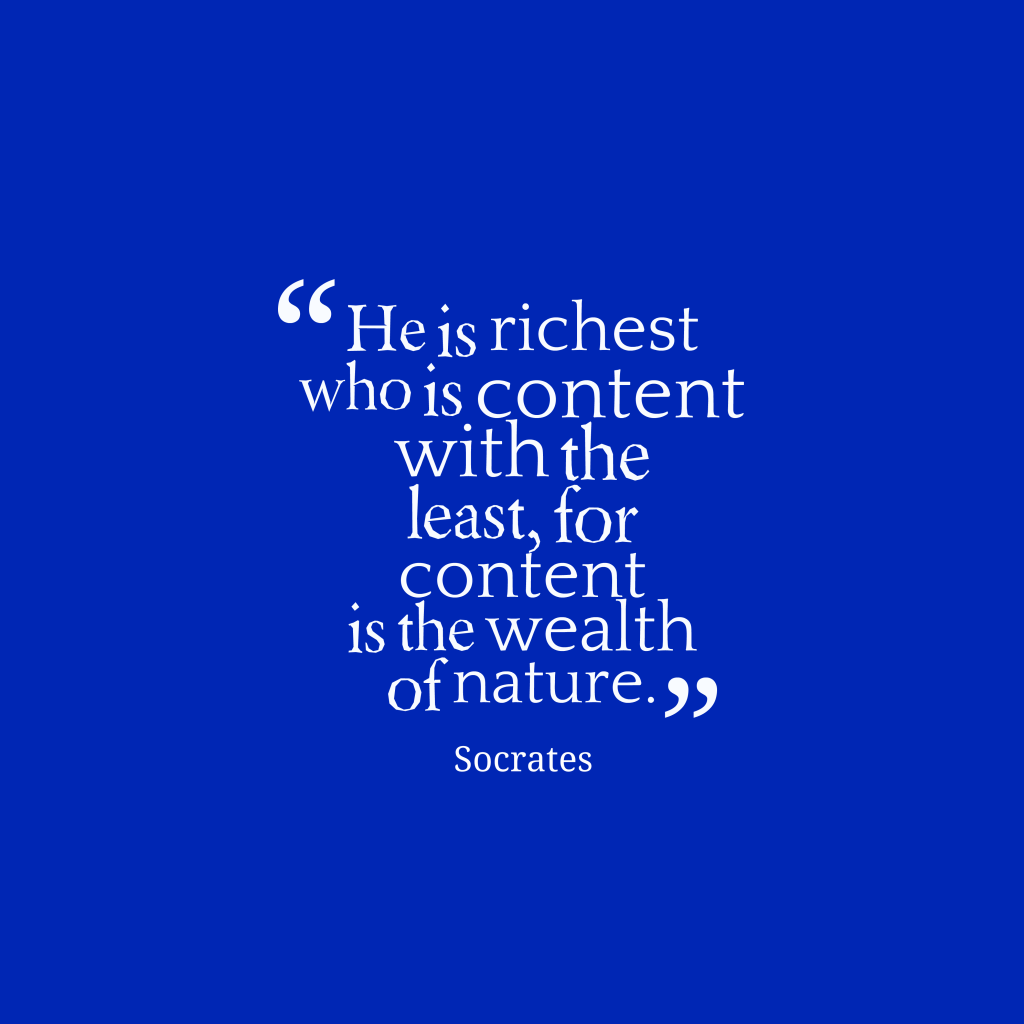 Socrates quote about wealth