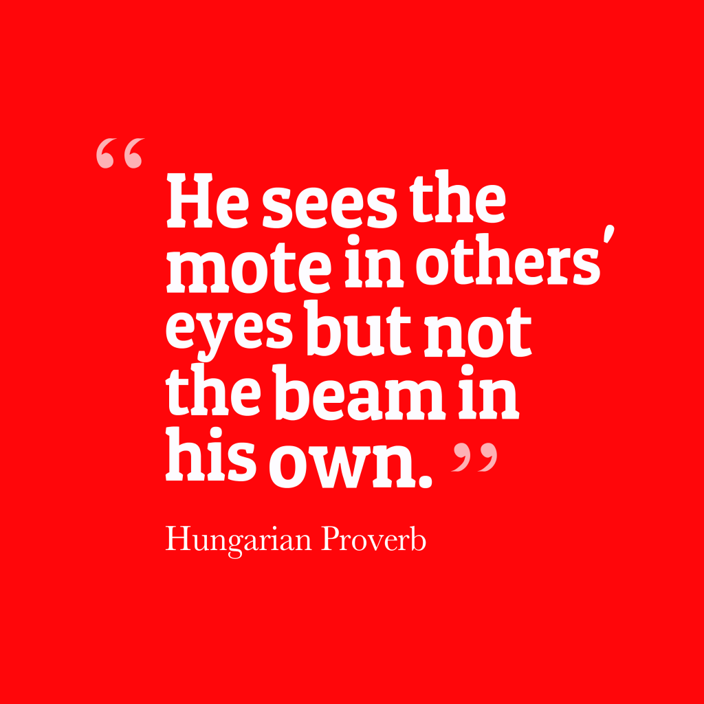Hungarian proverb about mistake.