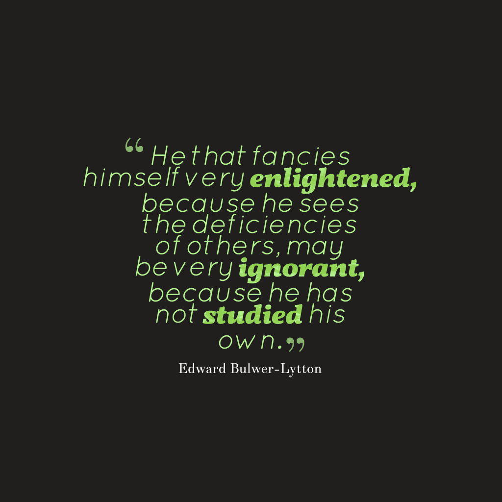Edward Bulwer-Lytton quote about personality.