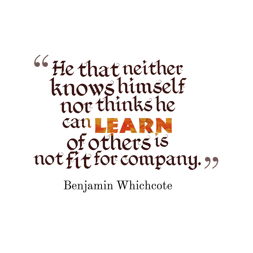 Benjamin Whichcote quote about self.