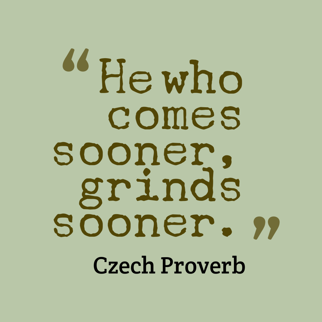 Czech proverb about job.