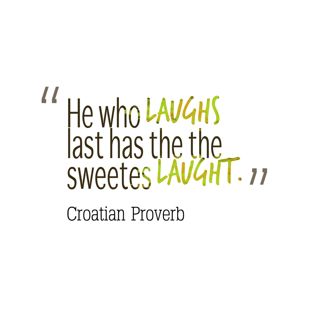 Croatian proverb about fight.