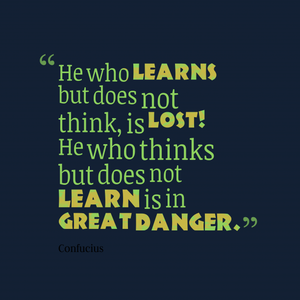 Confucius quote about learn.