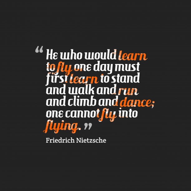 Friedrich Nietzsche quote about dedication.