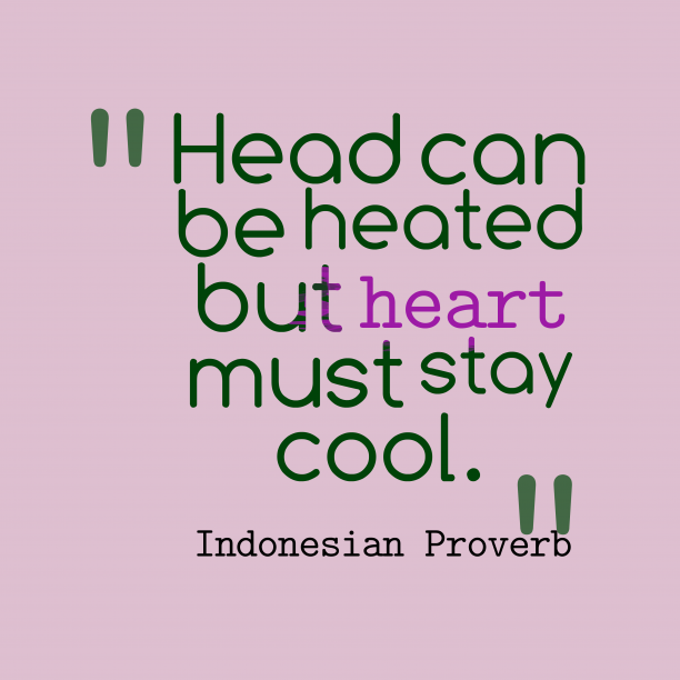 Indonesian wisdom about discussion.