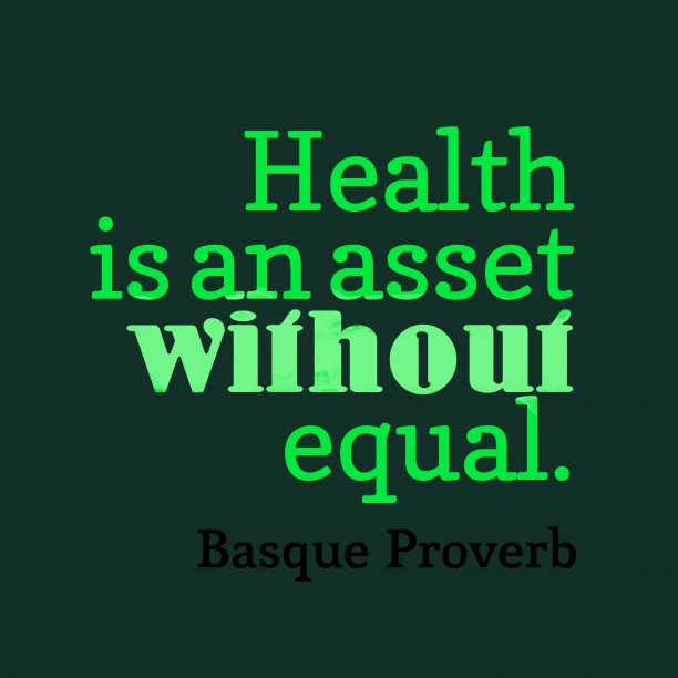 Basque wisdom about health.