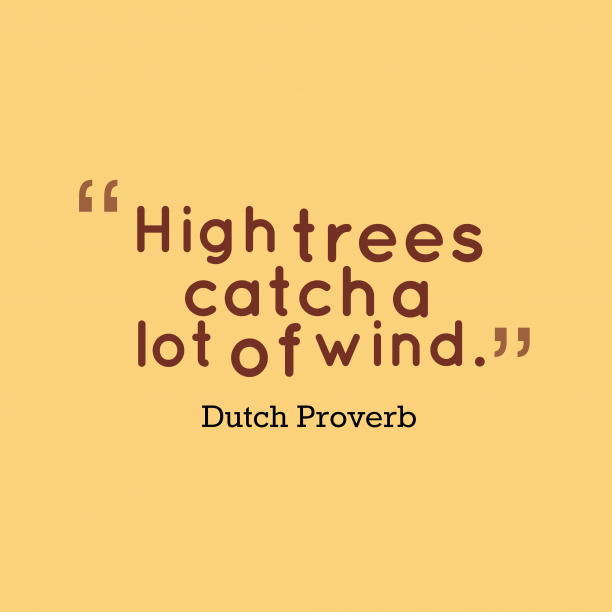 Dutch proverb about people.