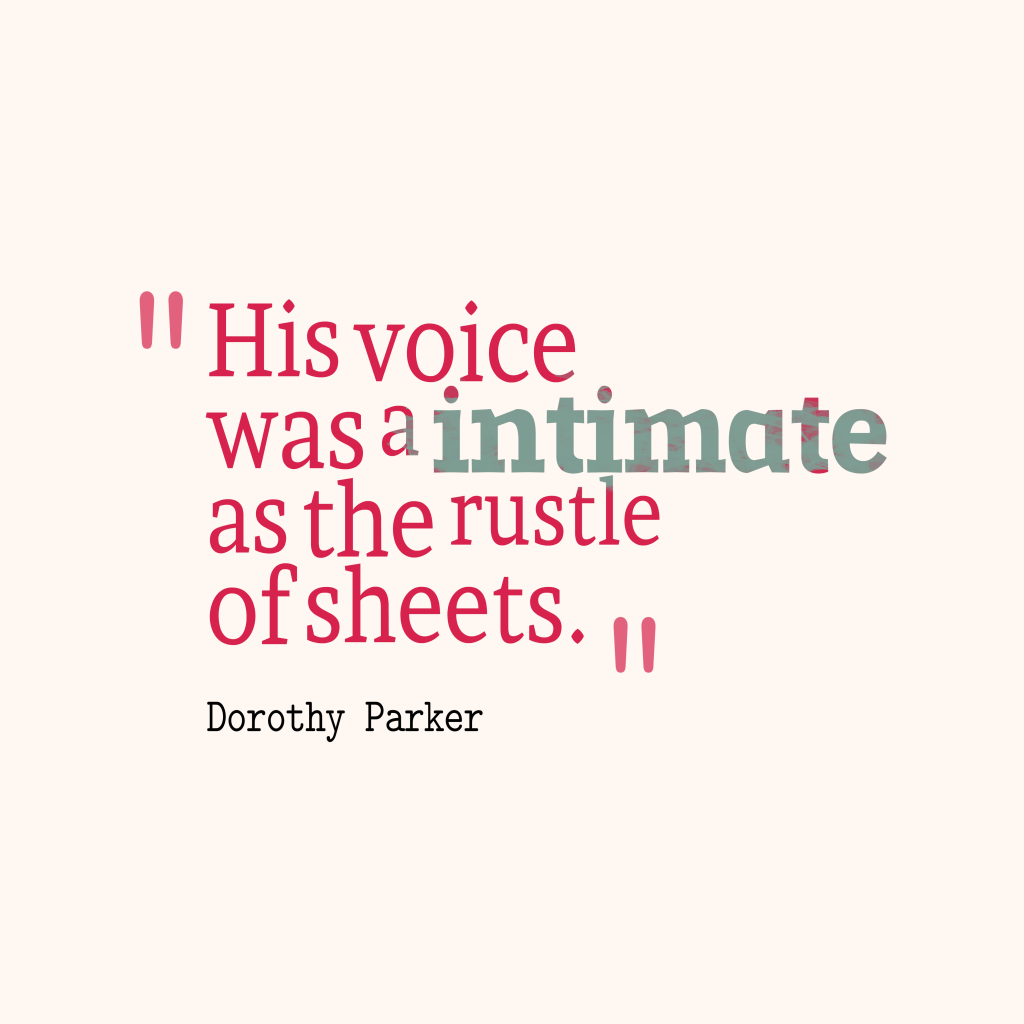 His voice was