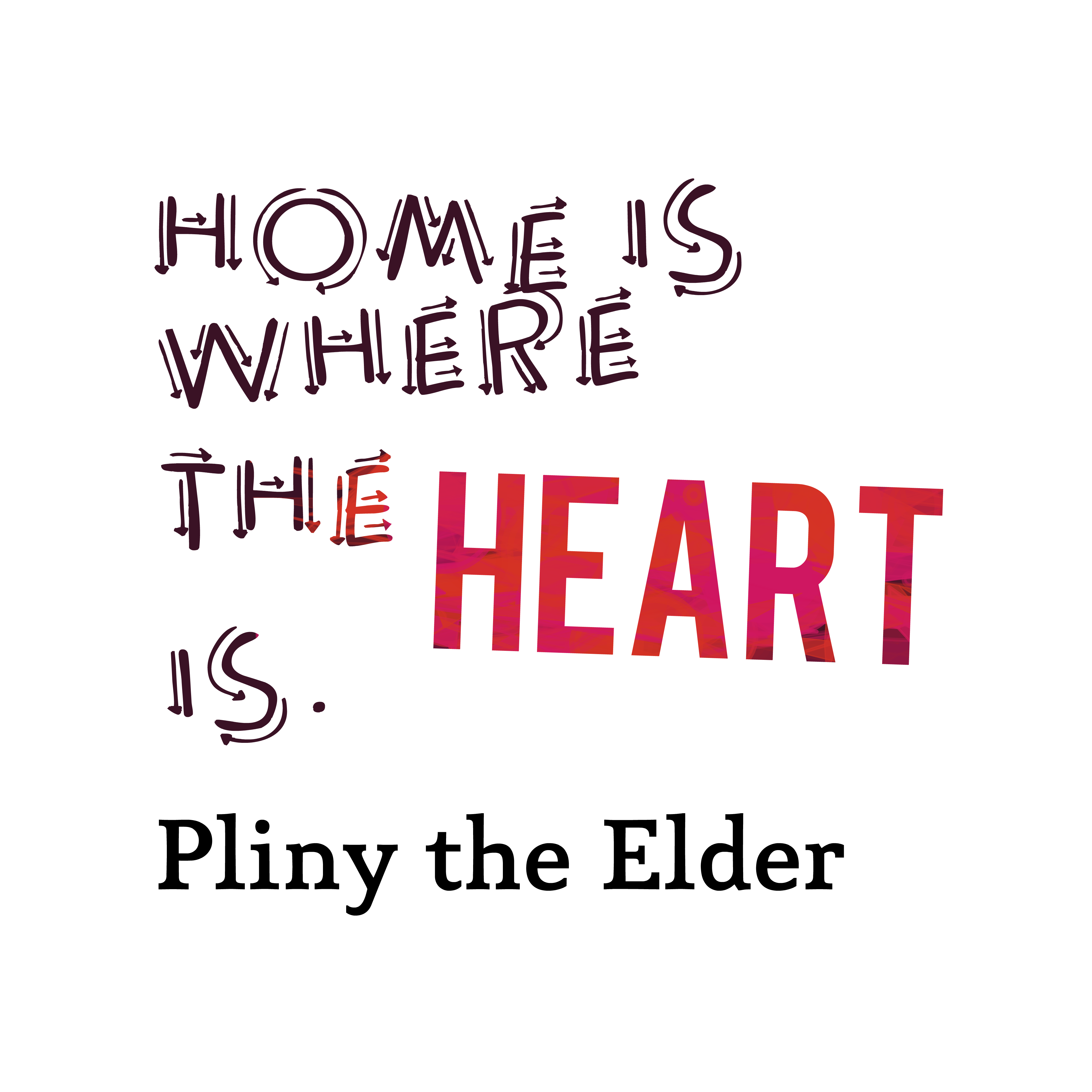 Home Is Where The Heart Is Quote: Download High Resolution Quotes Picture Maker From Pliny