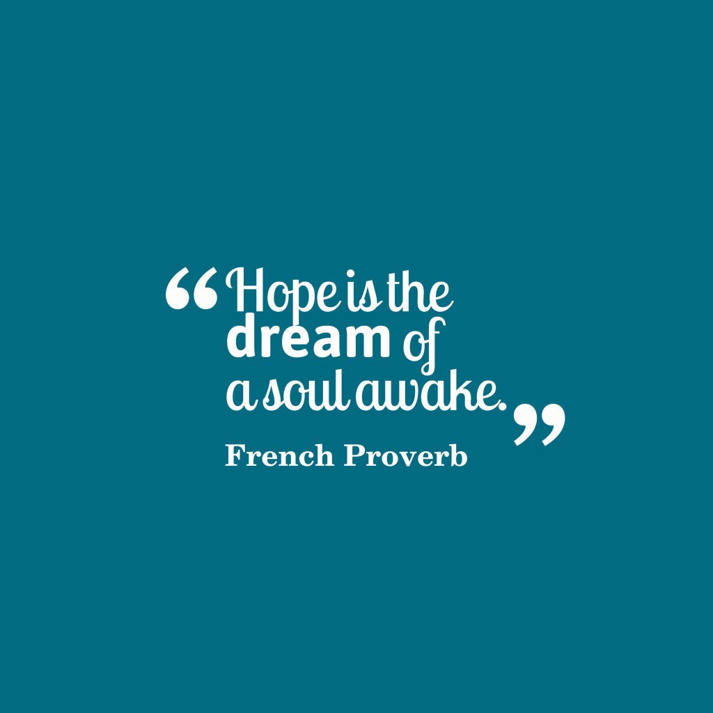 French proverb about hope.
