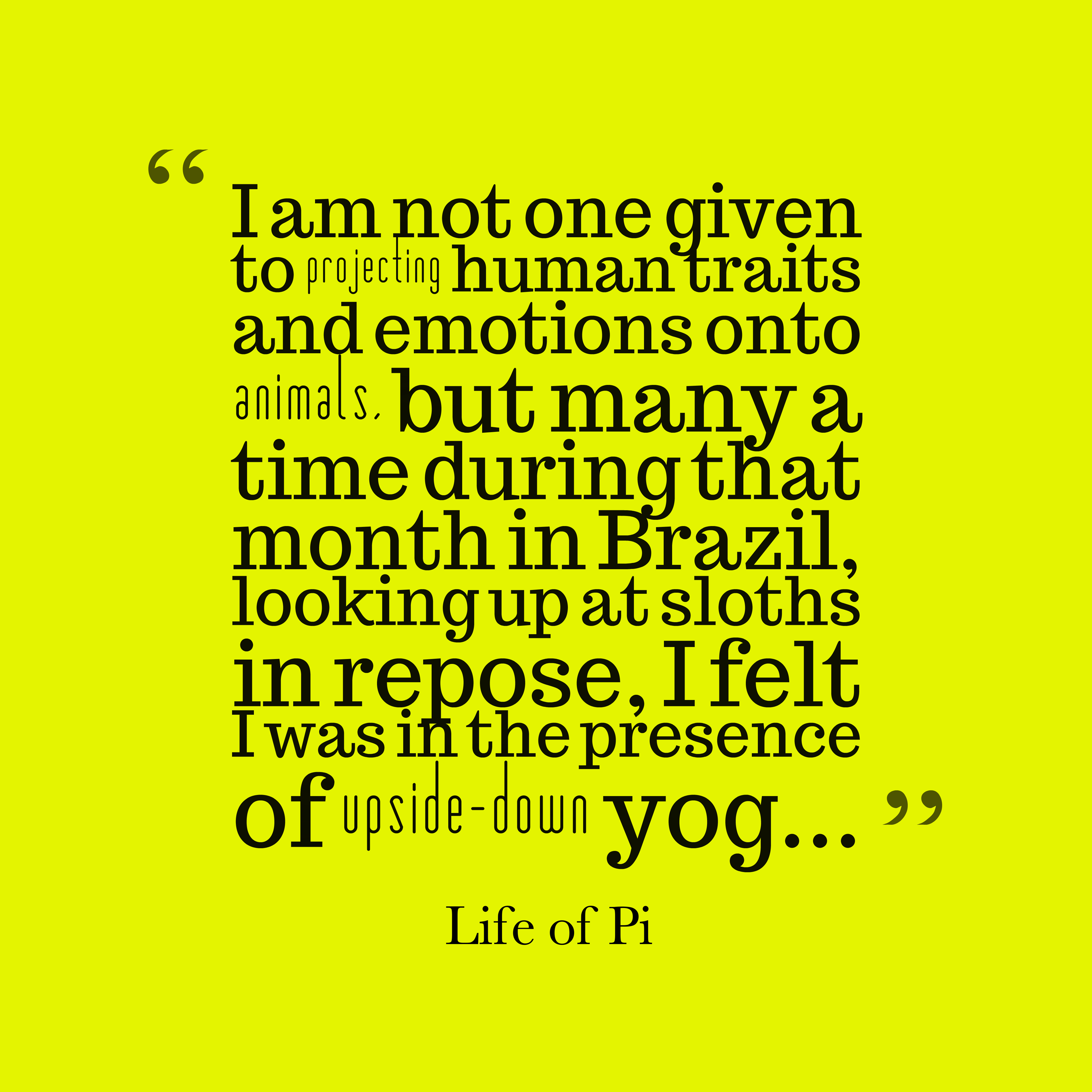 Life Of Pi Quote About Spirituality
