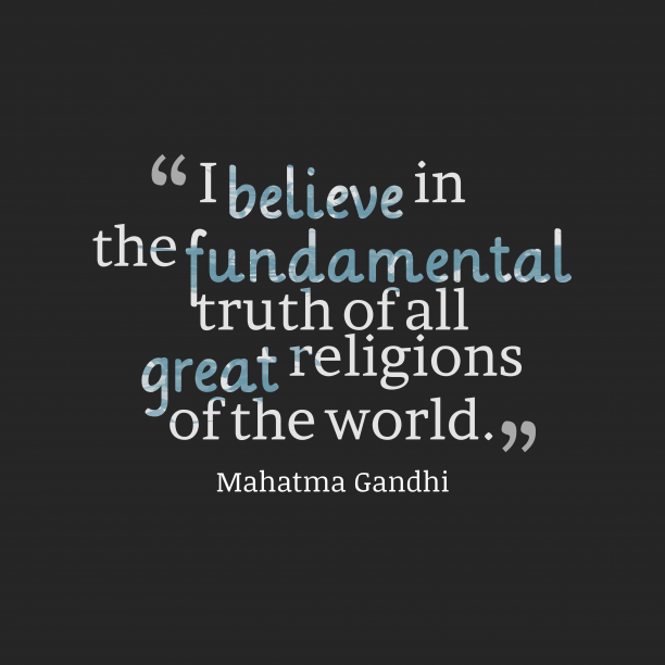Mahatma Gandhi quote about truth.