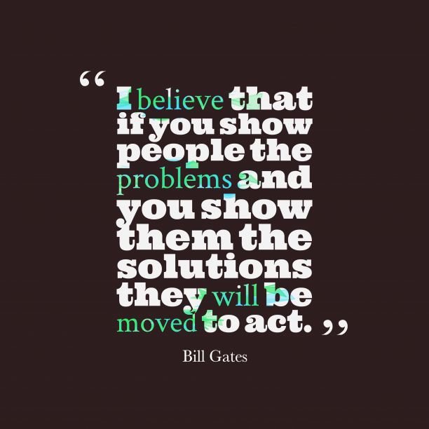 Bill Gates quote about move.