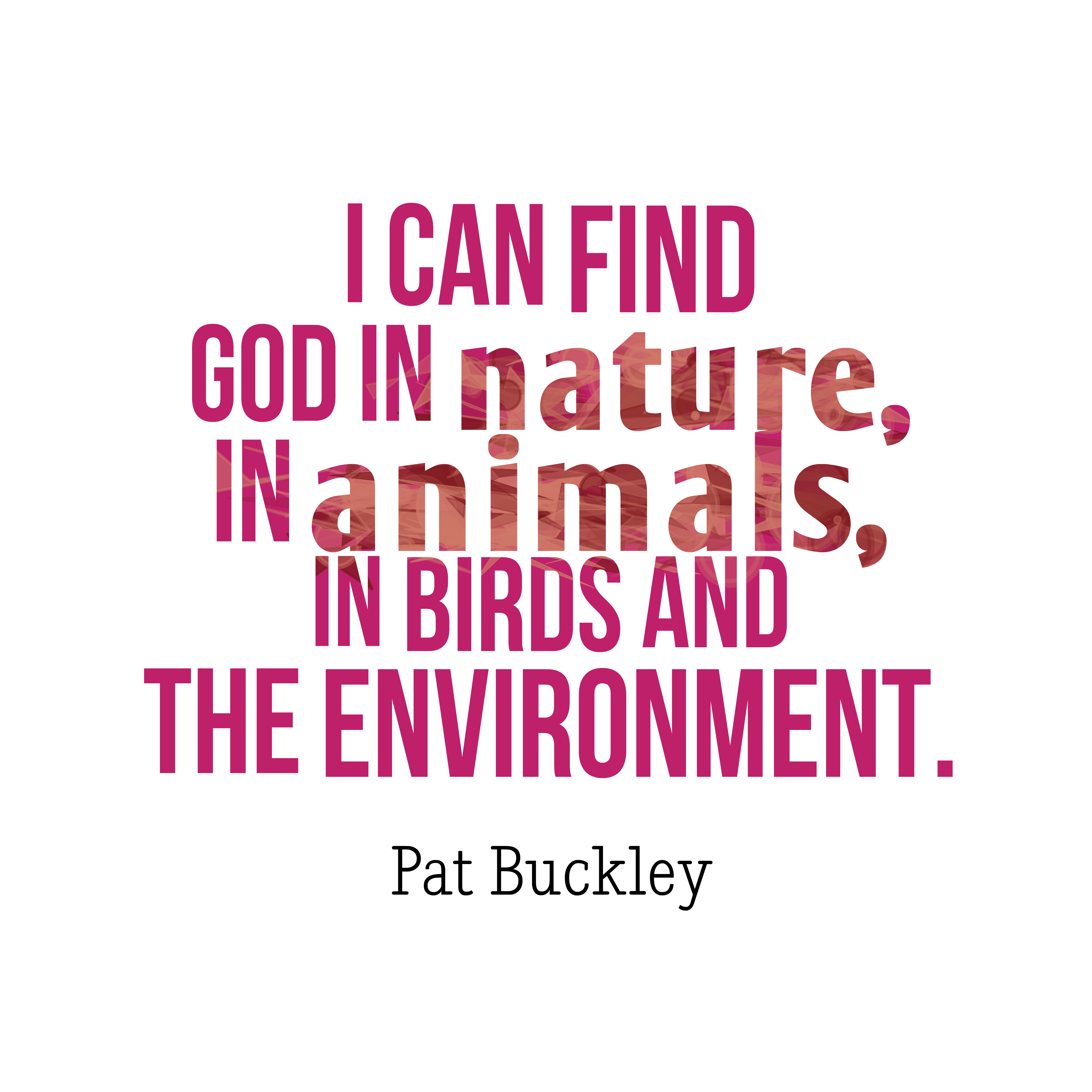 Picture Pat Buckley quote about envirnmental ...