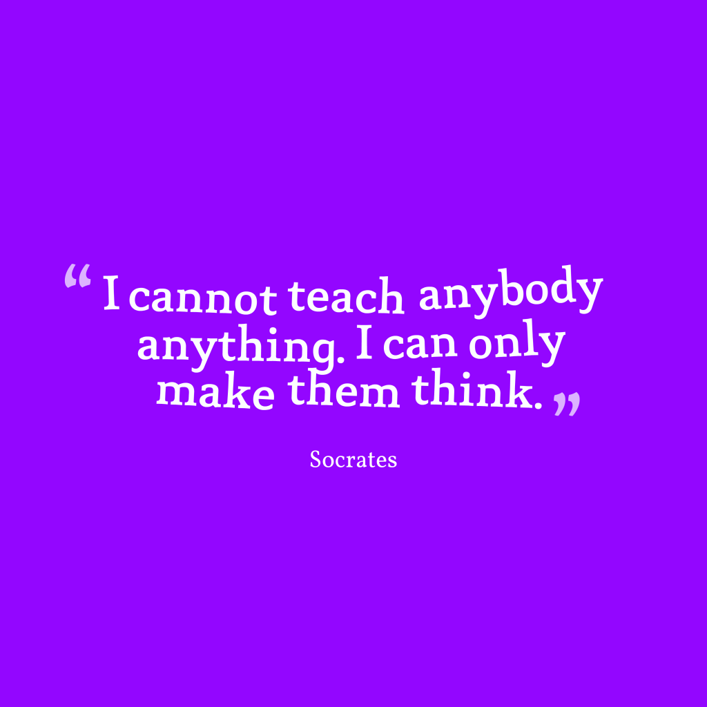Socrates quote about learning.