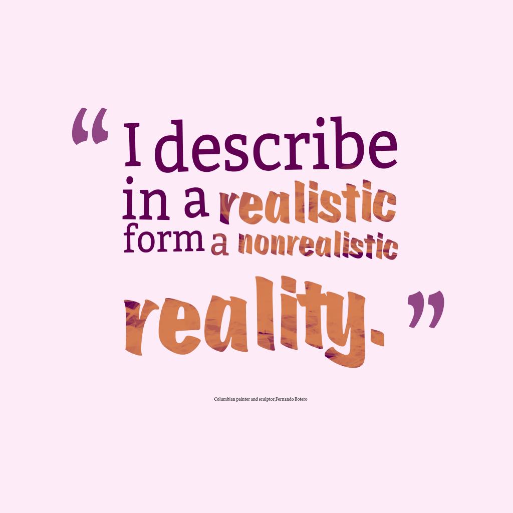 I describe in