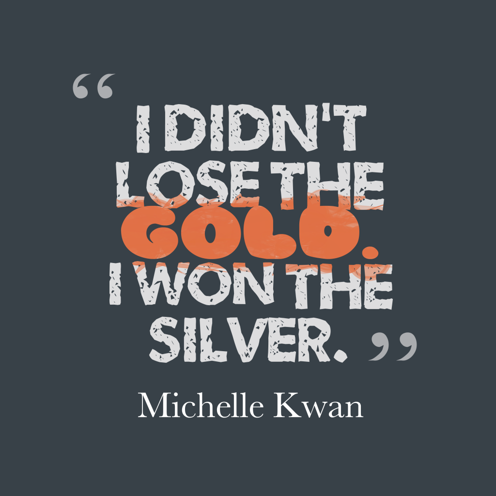 Michelle Kwan quote about optimism.
