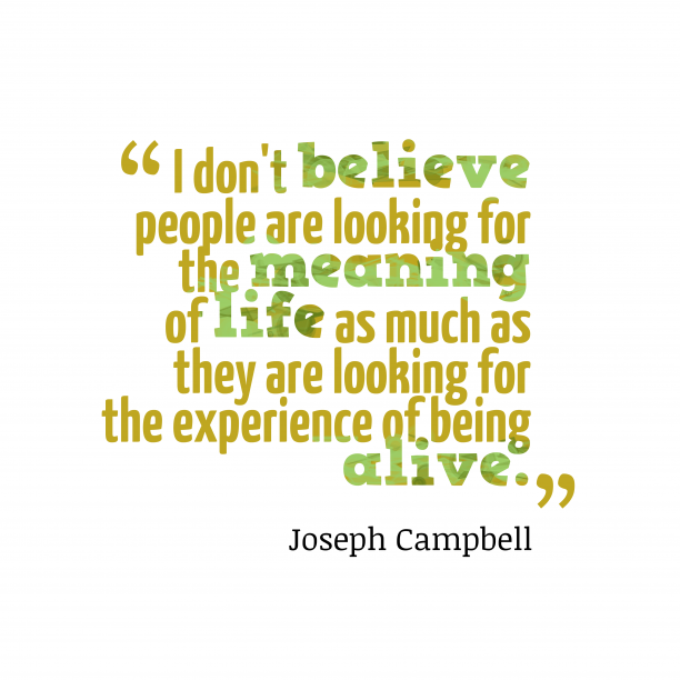 Joseph Campbell quote about life.