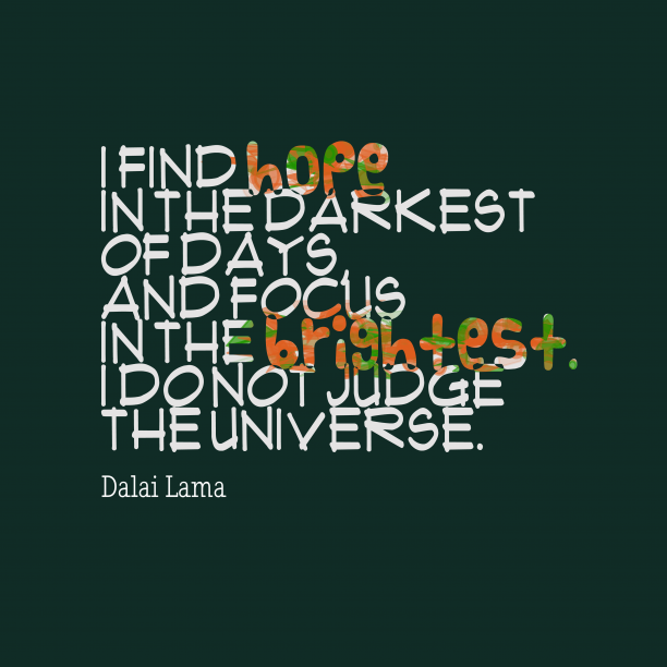 Dalai Lama quote about focus.