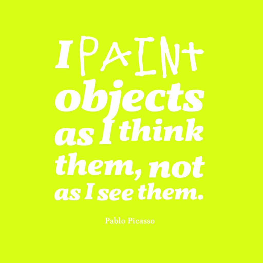 Pablo Picasso quote about paint.