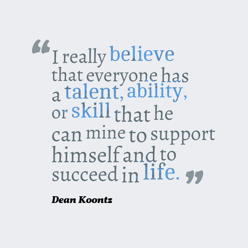 Dean Koontz quote about life.