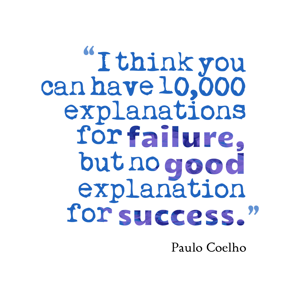 Paulo Coelho quote about failure.