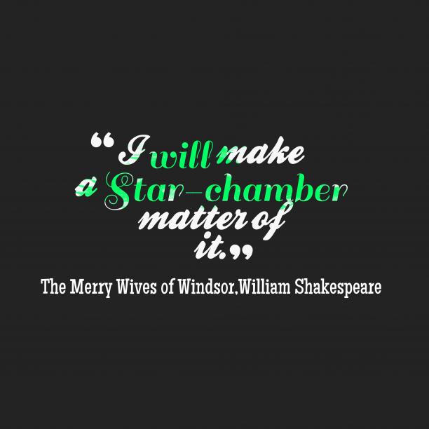 I will make