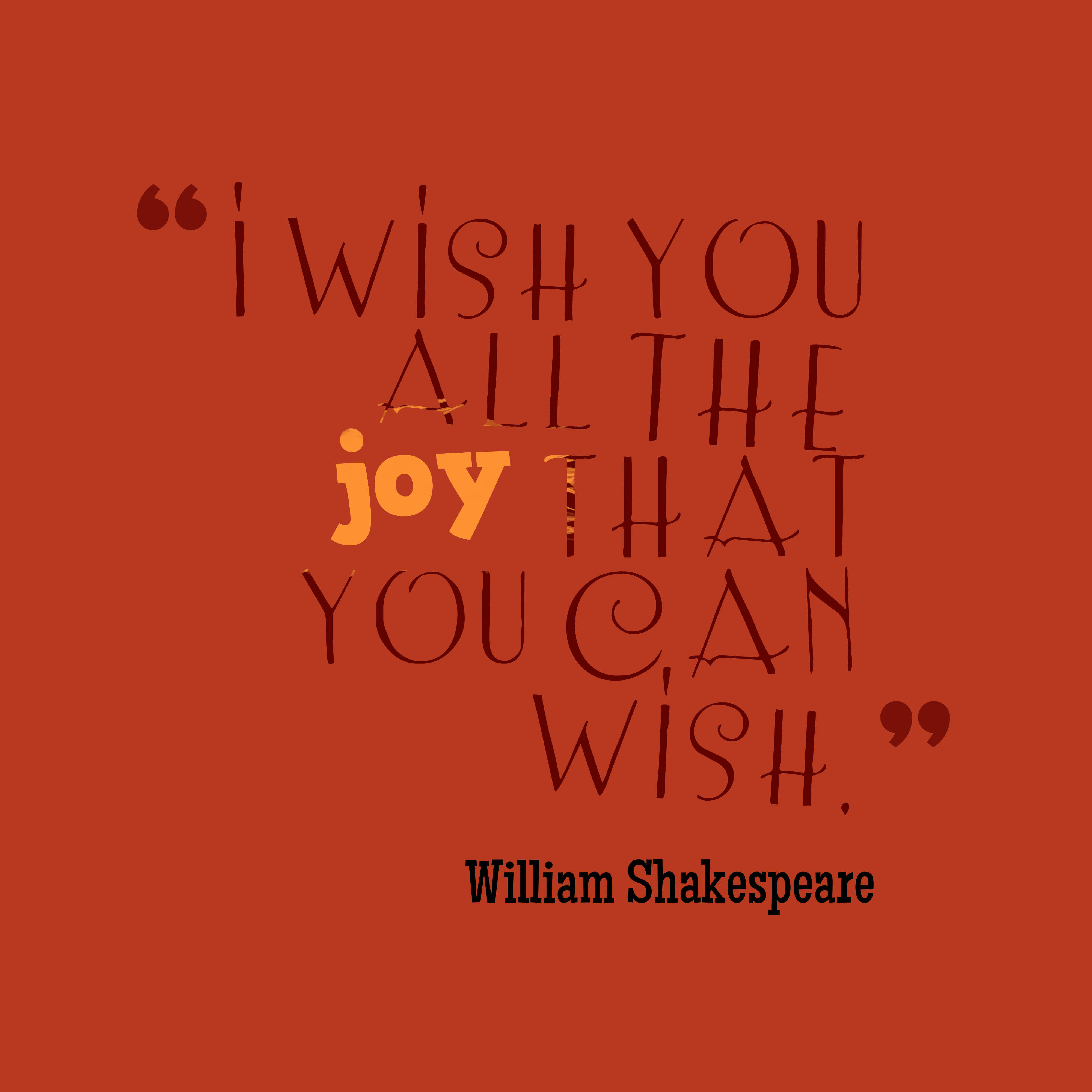 William Shakespeare Quote About Joy