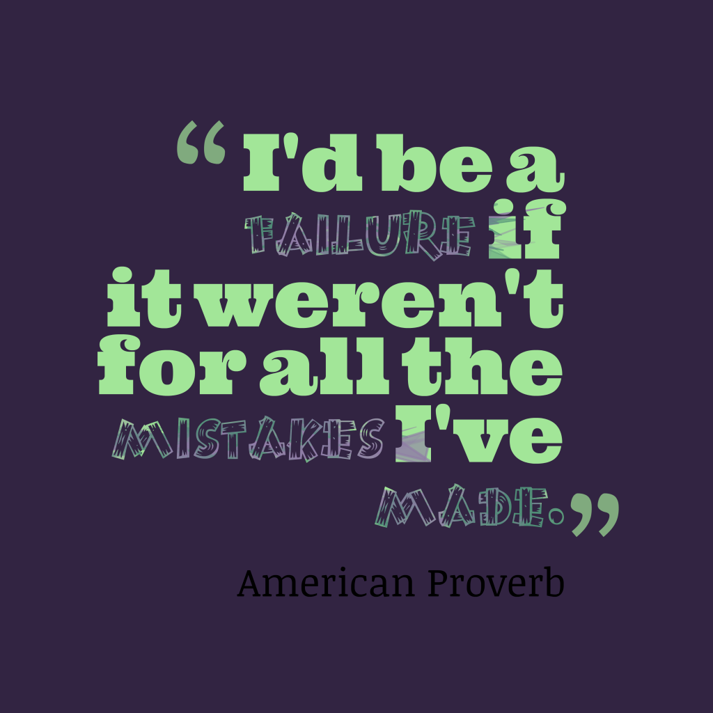 American proverb about success.