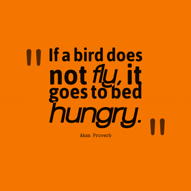 Akan Wisdom 's quote about . If a bird does not…