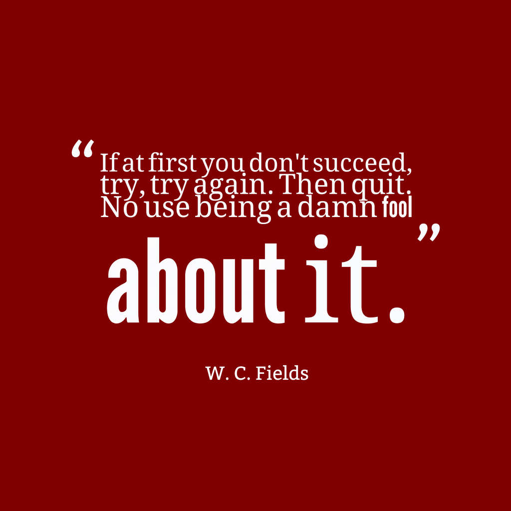W.C. Fields quote about success.
