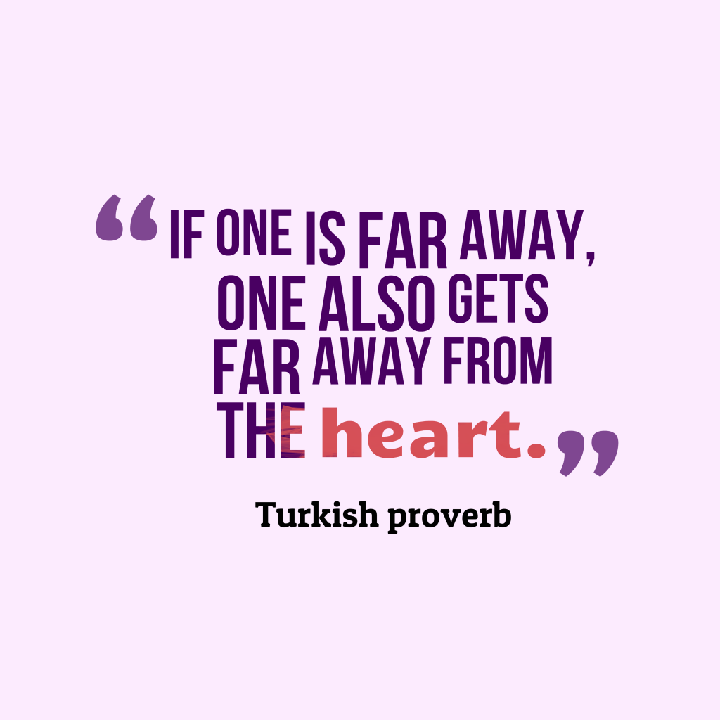 Turkish proverb about feeling.