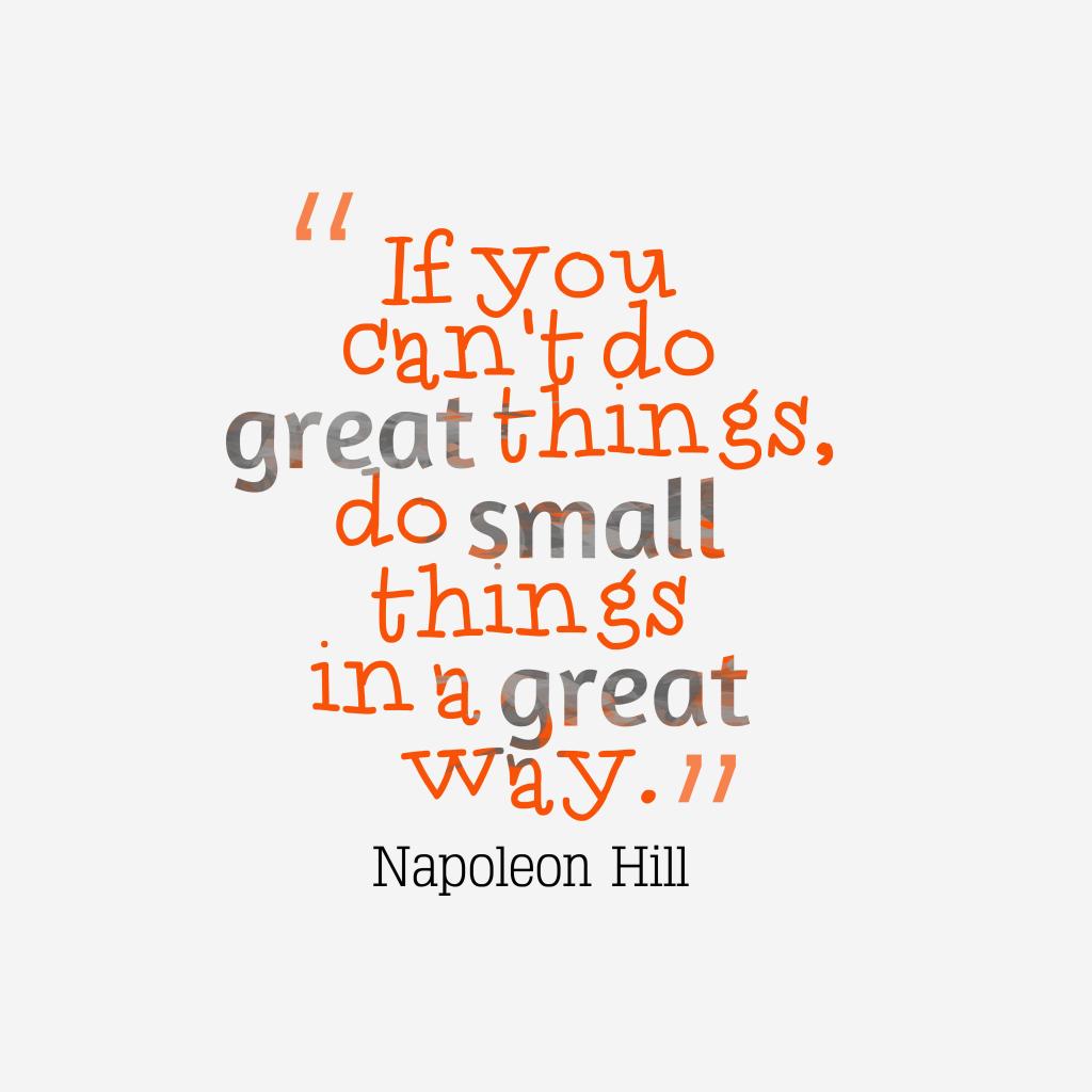 Napoleon Hill quote about achievement.