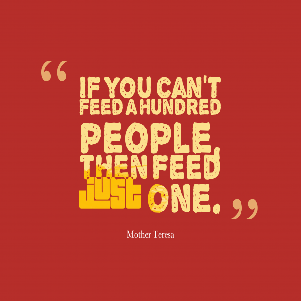 Mother Teresa quote about people.