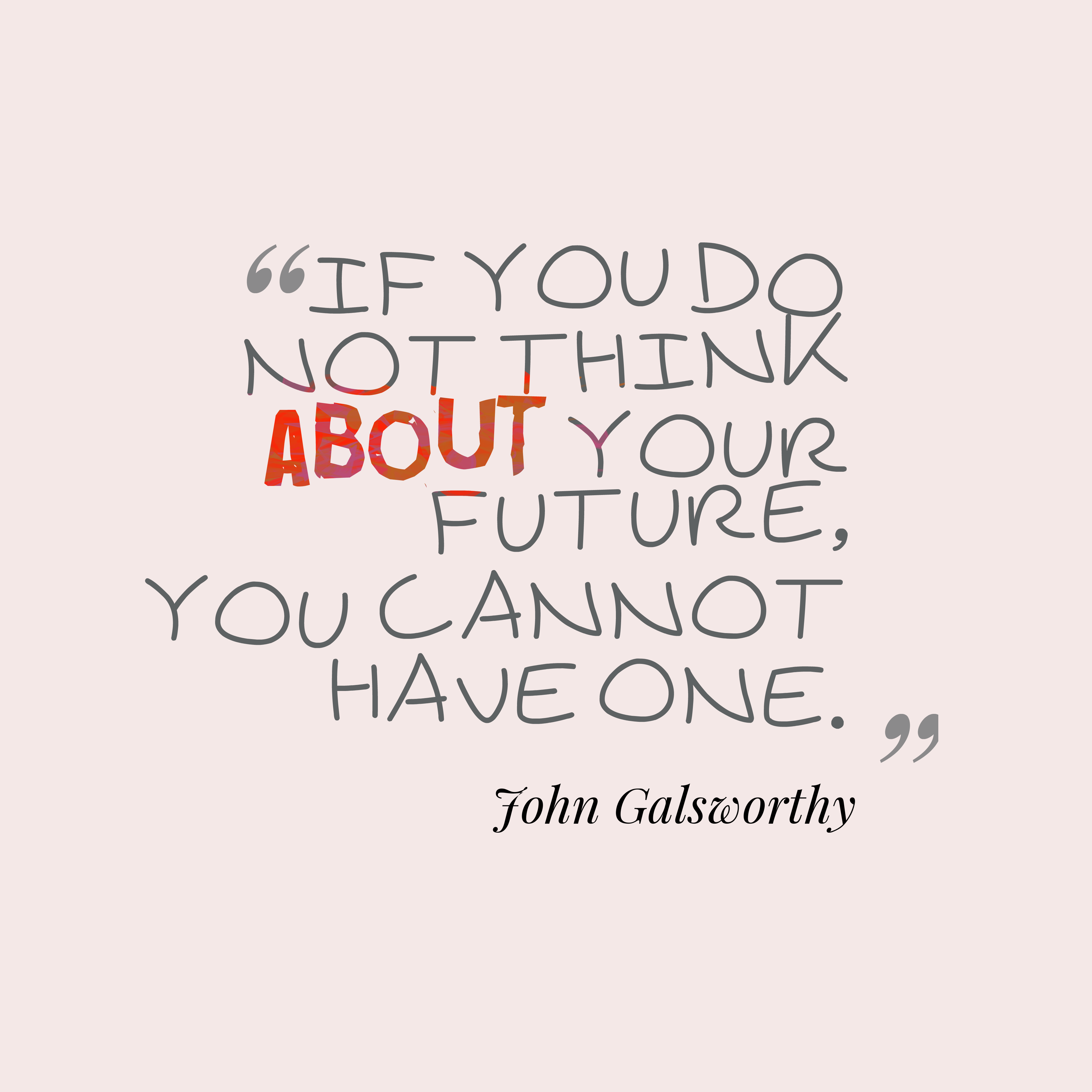 Quotes image of If you do not think about your future, you cannot have one.