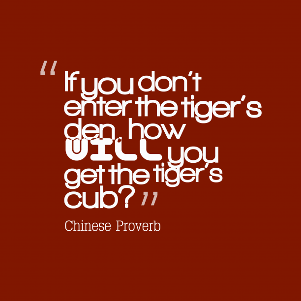 Chinese wisdom about effort.