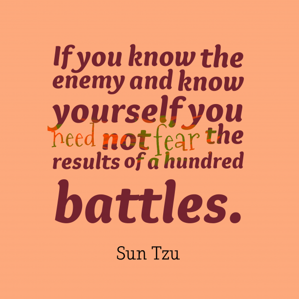Sun Tzu quote about enemy.
