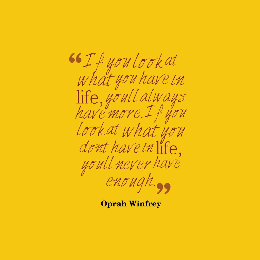 Oprah Winfrey quote about wealth.