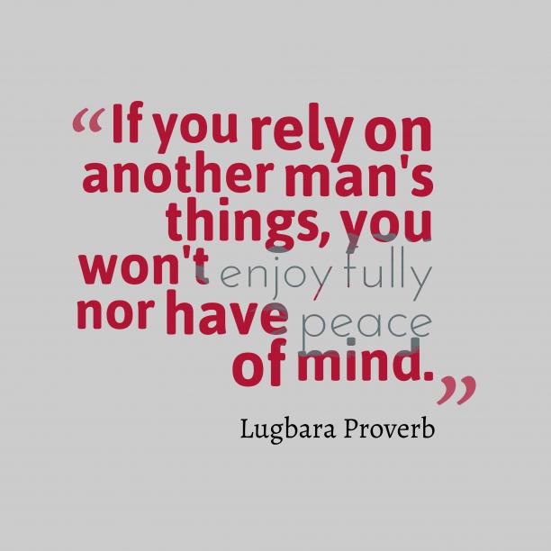 Lugbara wisdom about wisdom.