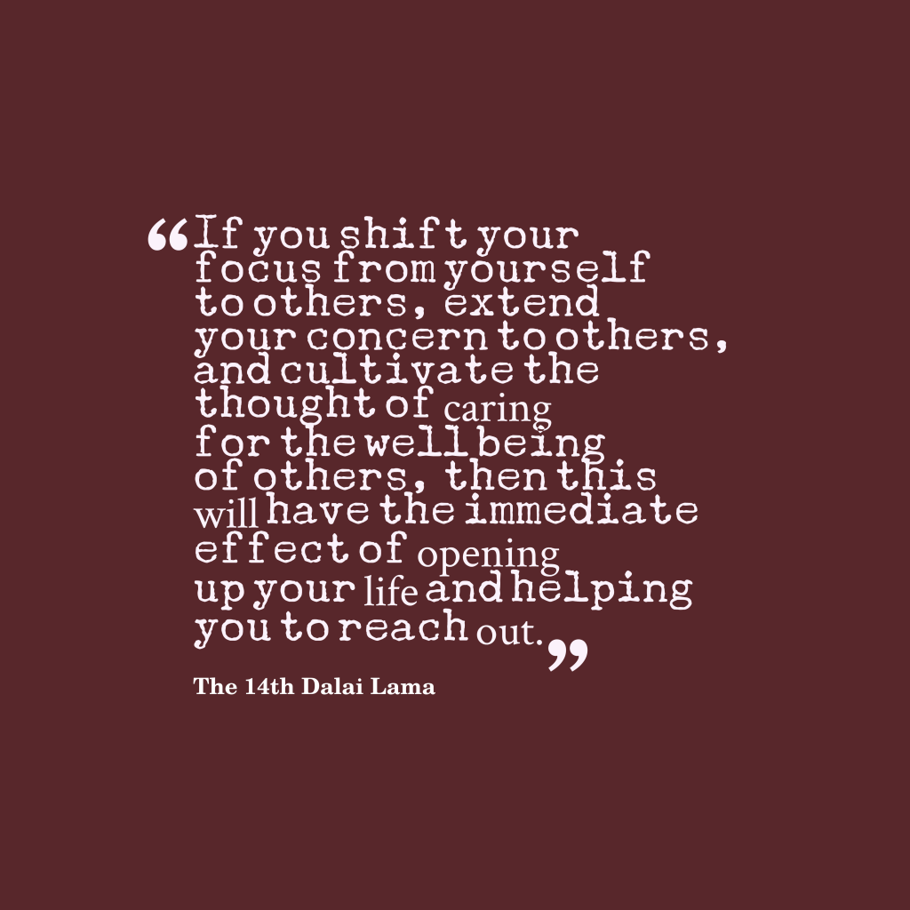 The 14th Dalai Lama quote about caring.