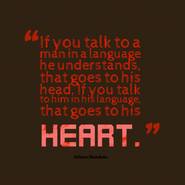 Nelson Mandela quote about talk.