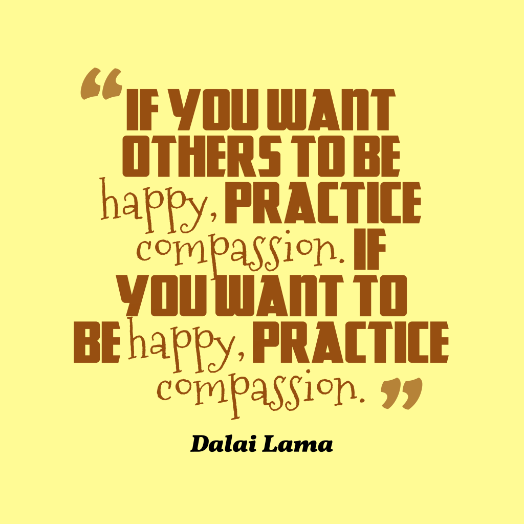 Dalai Lama quote about happiness.