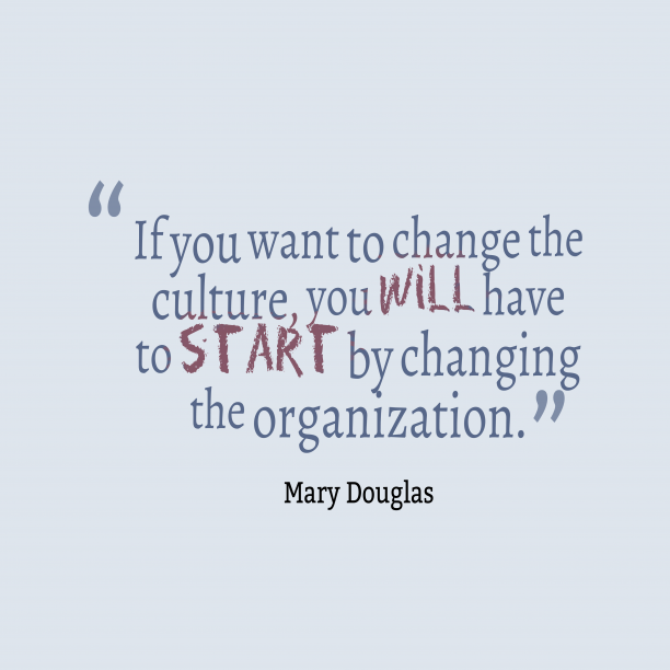 Mary Douglas 's quote about . If you want to change…