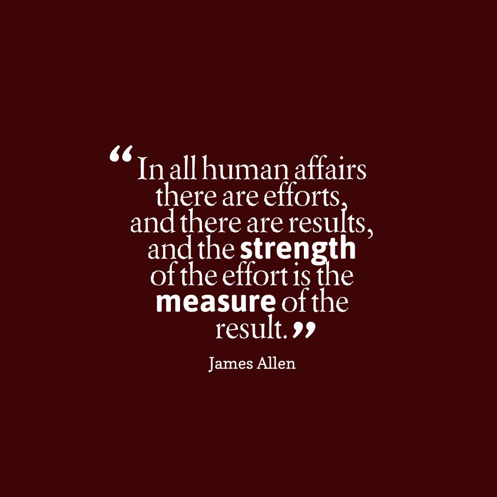 James Allen quote about work.