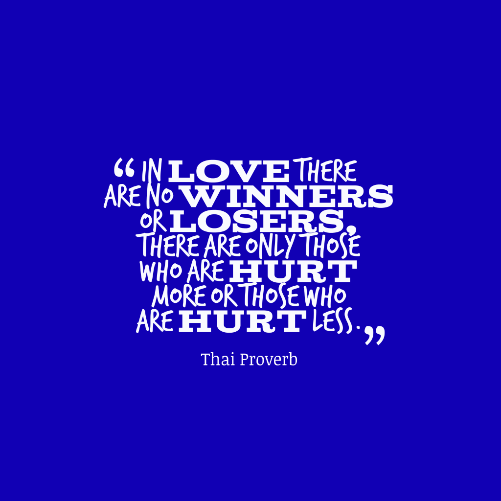 Thai proverb about love.