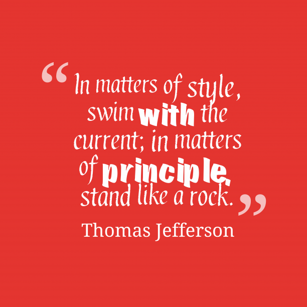Thomas Jefferson quote about style.